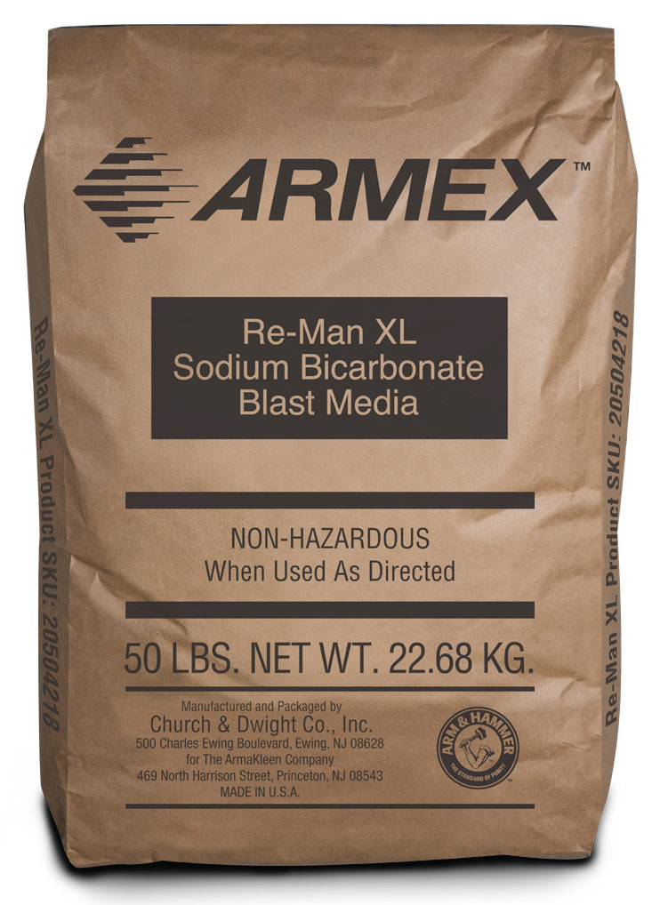 Soda Blasting Media >> Armex Launches New Product Re Man Xl Armex Soda Blasting Media