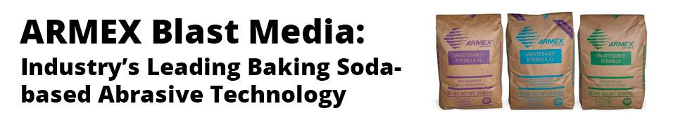 ARMEX Soda Blasting Media - When Non-Destructive Cleaning is Critical