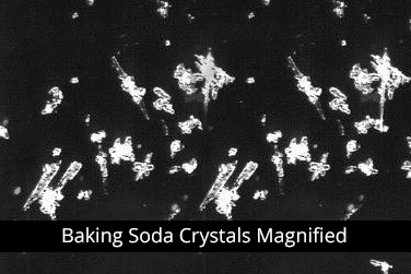 Soda Blasting Crystals Magnified